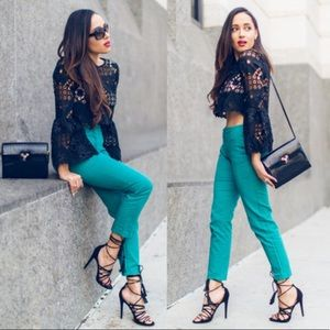 Buy 2 Get 2🎁Zara Turquoise Trousers Size 4
